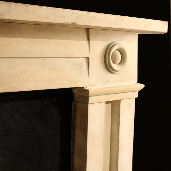 stone bullseye chimneypiece
