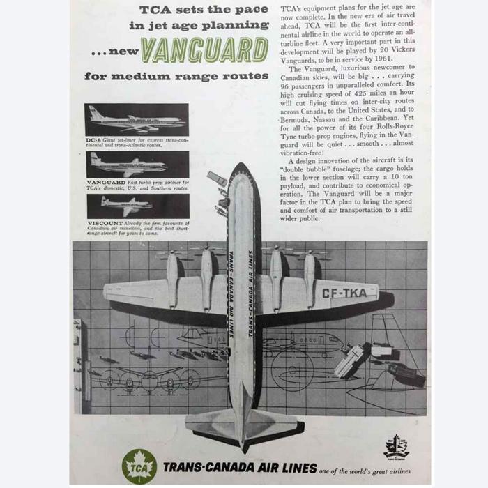 Vickers Vanguard jet-prop exhausts