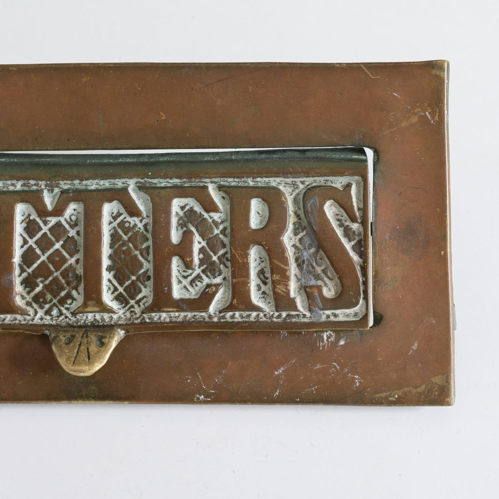 with 'LETTERS' cast in relief on hatched background.
