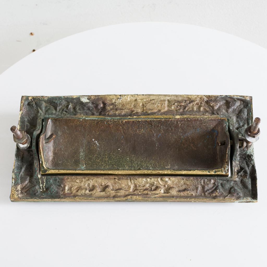 Victorian brass letterplate, -139327