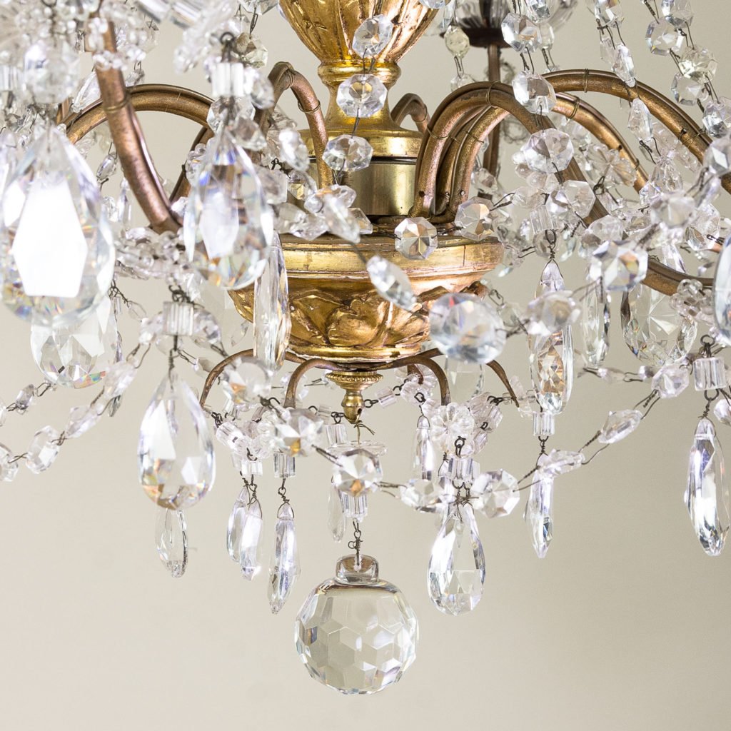 Late nineteenth century Genoese giltwood and glass chandelier, -139310