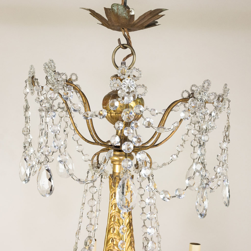 Late nineteenth century Genoese giltwood and glass chandelier, -139301
