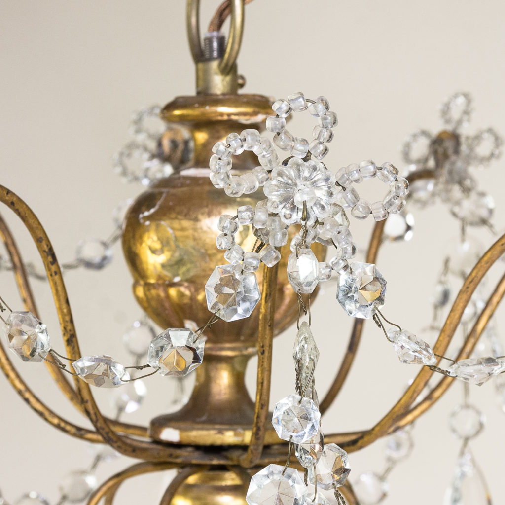 Late nineteenth century Genoese giltwood and glass chandelier, -139302