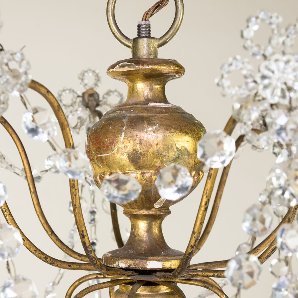 Late nineteenth century Genoese giltwood and glass chandelier, -139303
