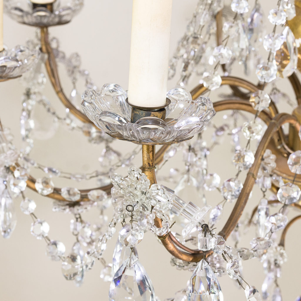 Late nineteenth century Genoese giltwood and glass chandelier, -139305