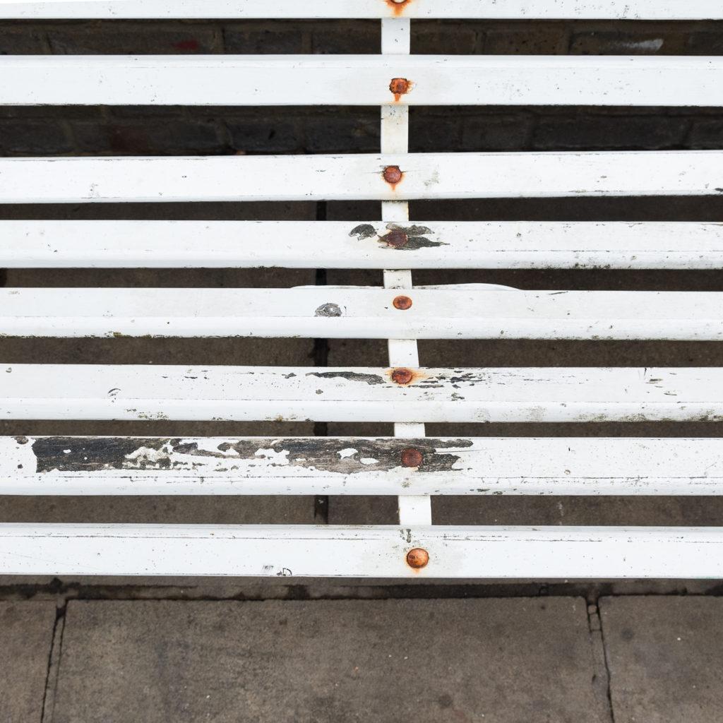 Victorian cast iron garden bench, -138973
