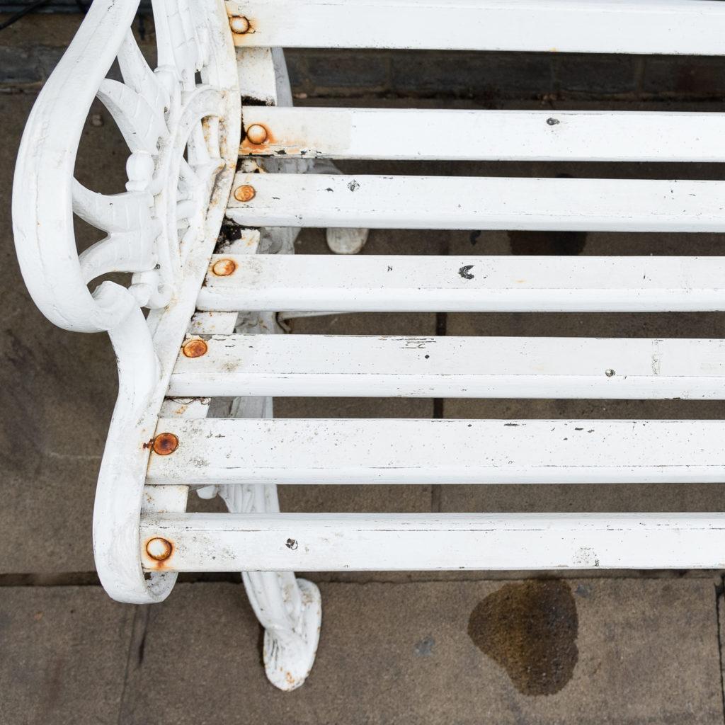 Victorian cast iron garden bench, -138974