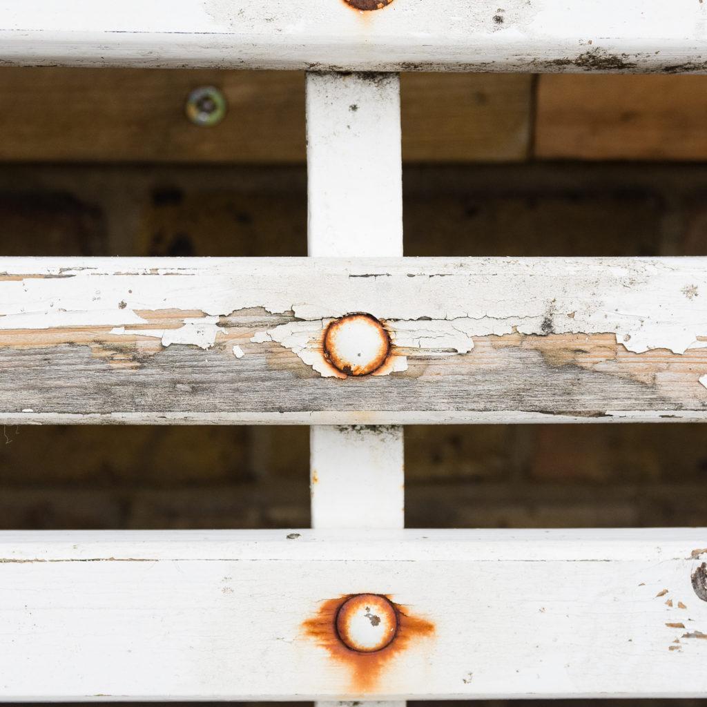 Victorian cast iron garden bench, -138975
