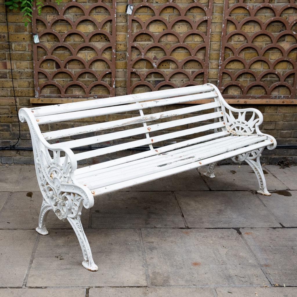 Victorian cast iron garden bench, -138976
