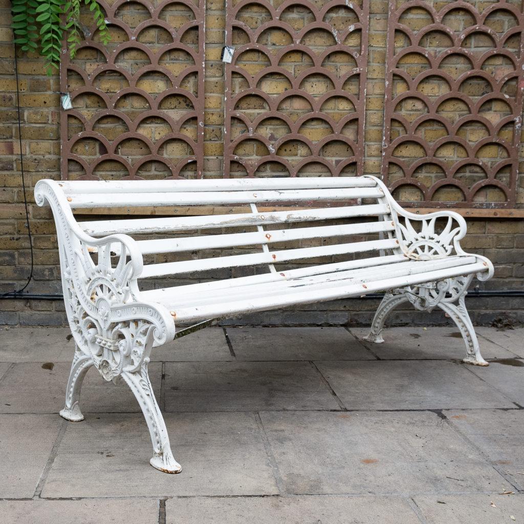 Victorian cast iron garden bench, -138977