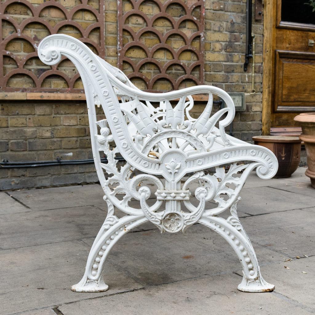 Victorian cast iron garden bench, -138978