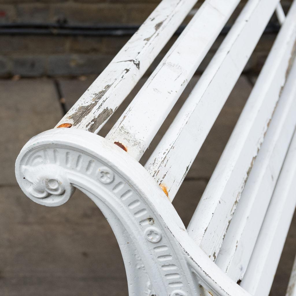 Victorian cast iron garden bench, -138979