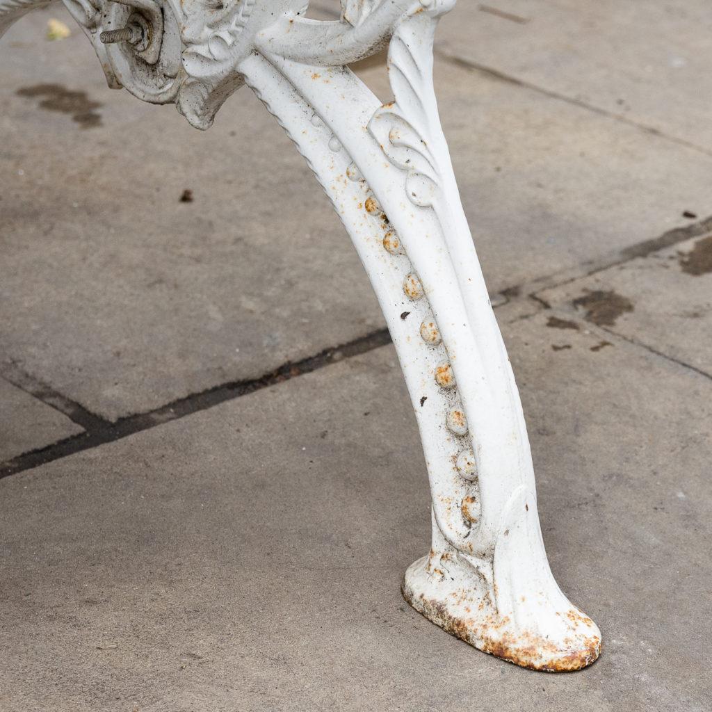 Victorian cast iron garden bench, -138981