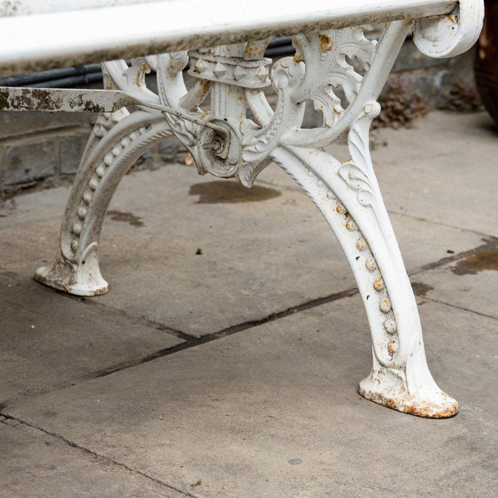Victorian cast iron garden bench, -138982