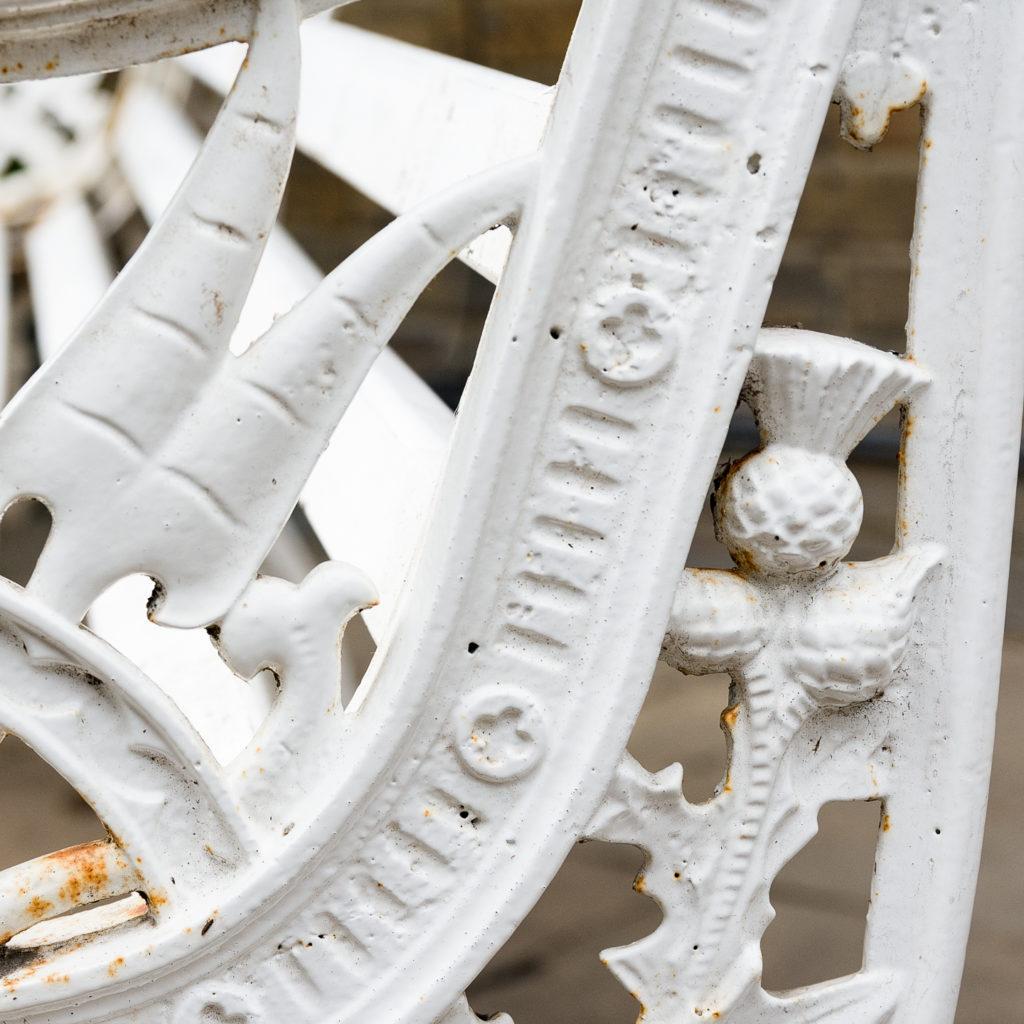 Victorian cast iron garden bench, -138984