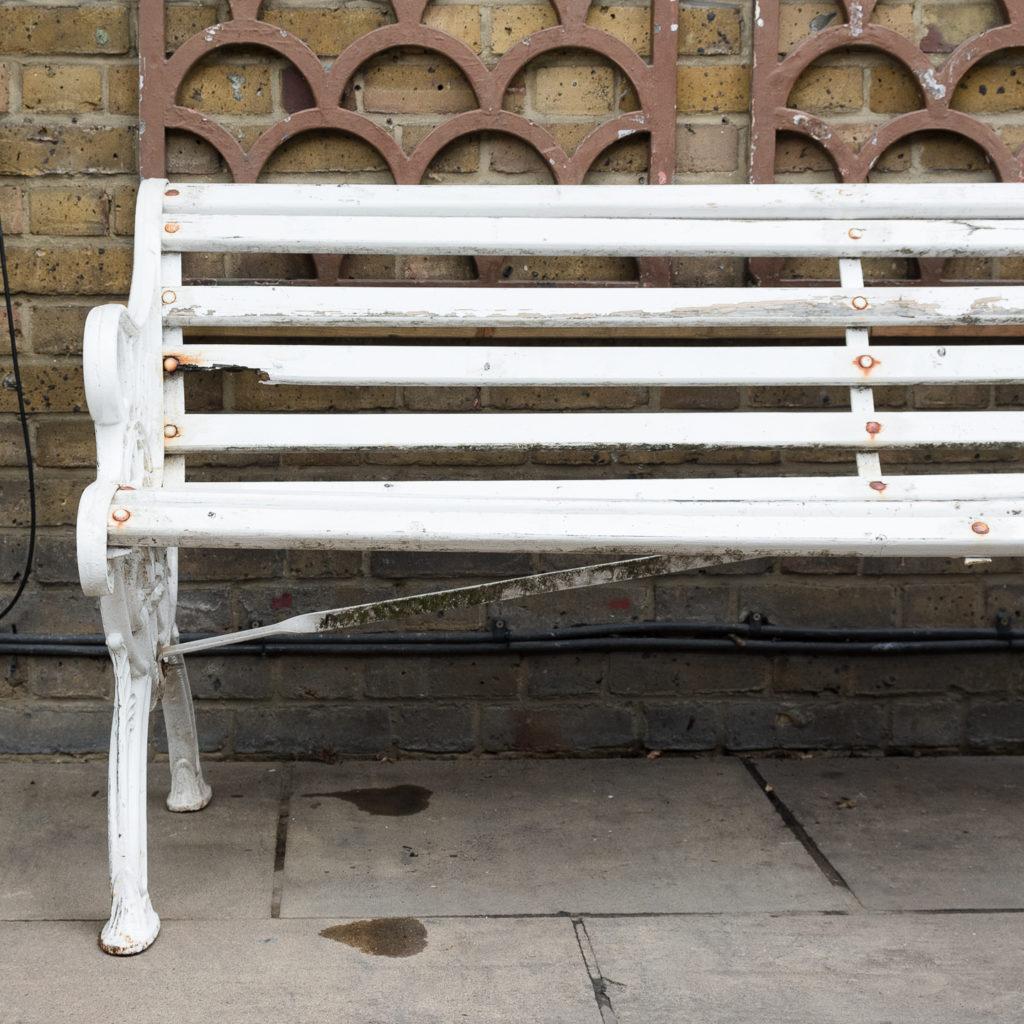 Victorian cast iron garden bench, -138970