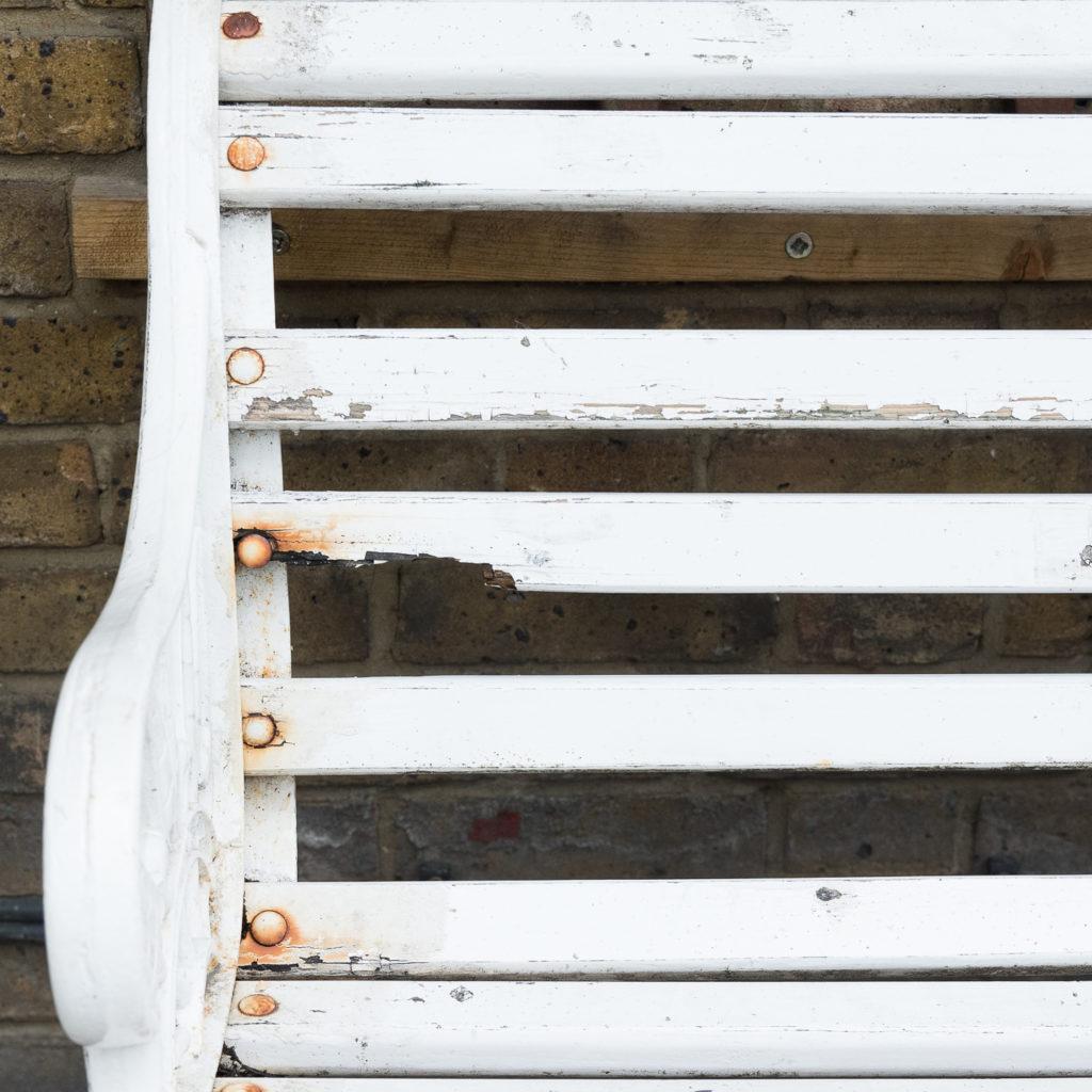 Victorian cast iron garden bench, -138969
