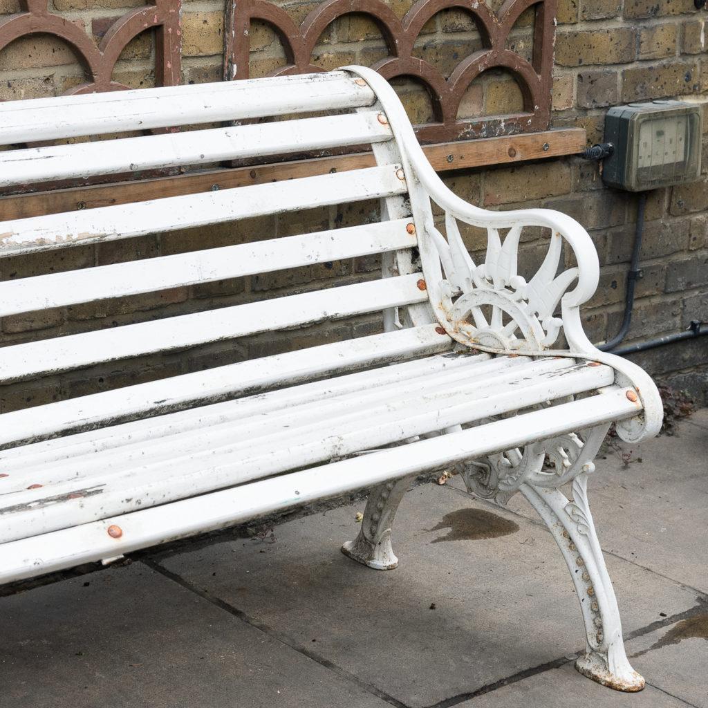Victorian cast iron garden bench, -138971