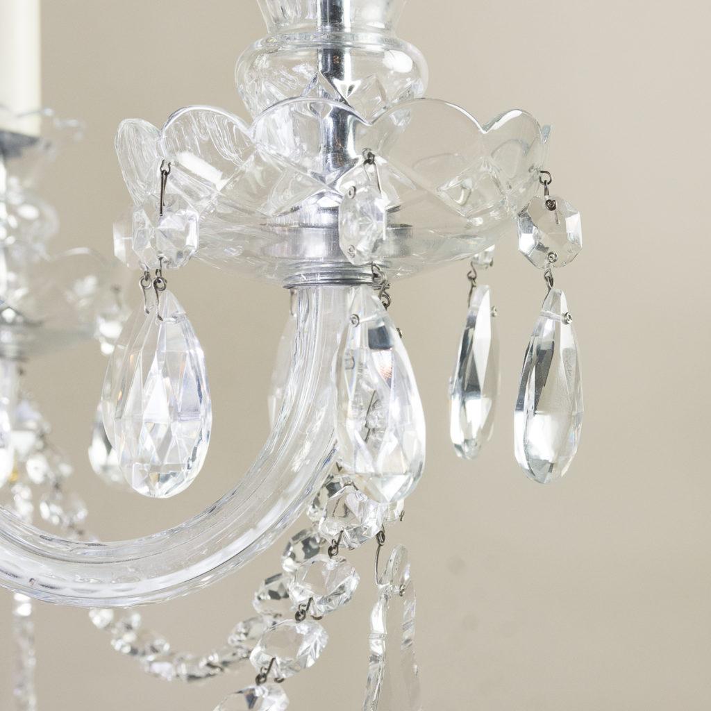 Nineteenth century style six light glass chandelier, -139286