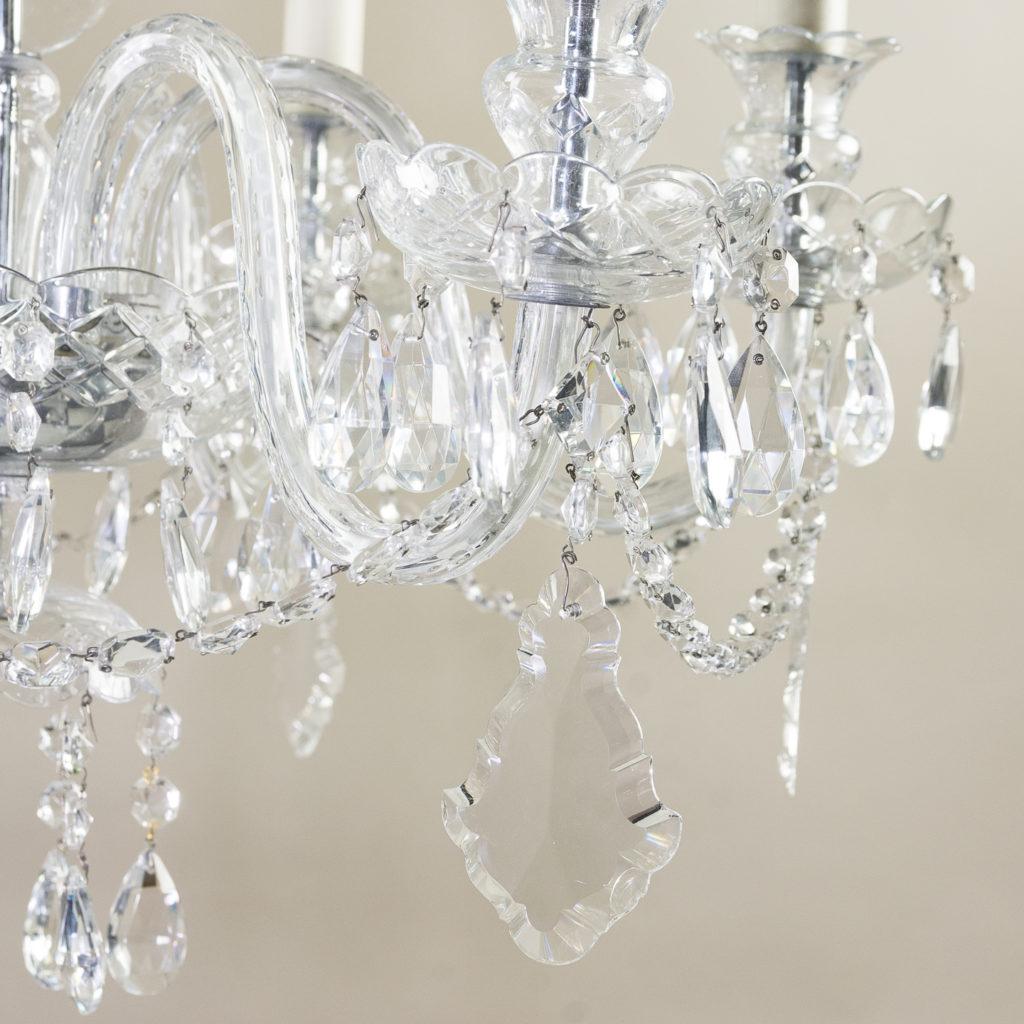 Nineteenth century style six light glass chandelier, -139284