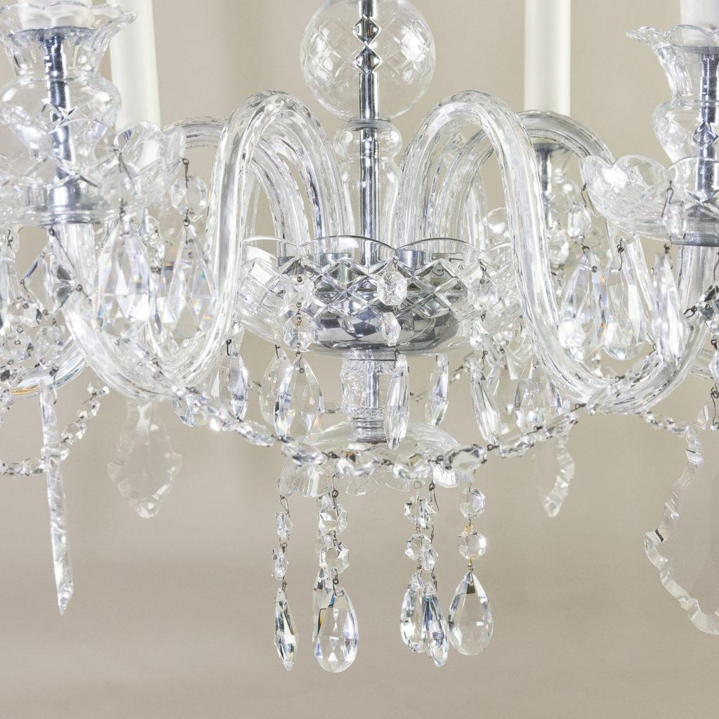 Nineteenth century style six light glass chandelier, -139285