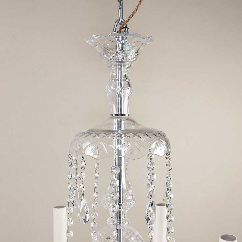 Pair of nineteenth century style ten light glass chandeliers, -138877