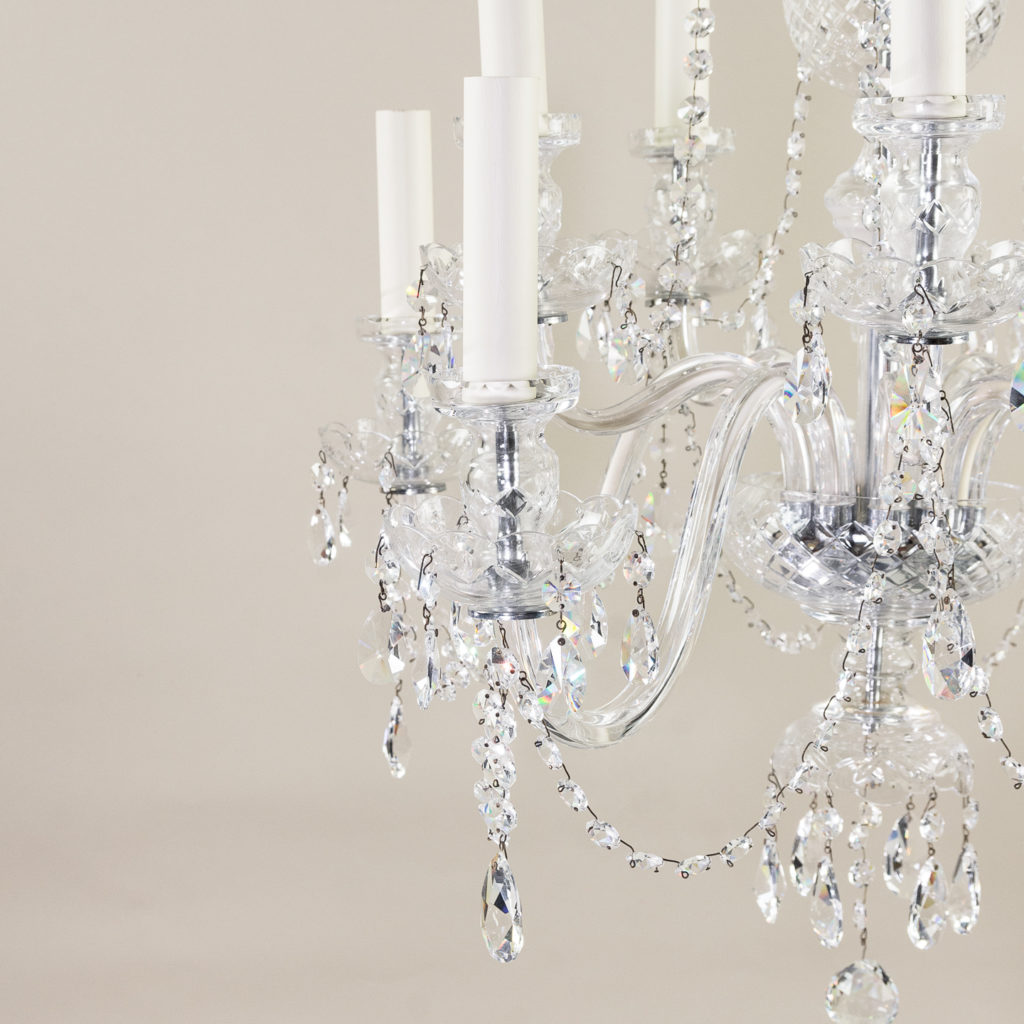 Pair of nineteenth century style ten light glass chandeliers, -138879