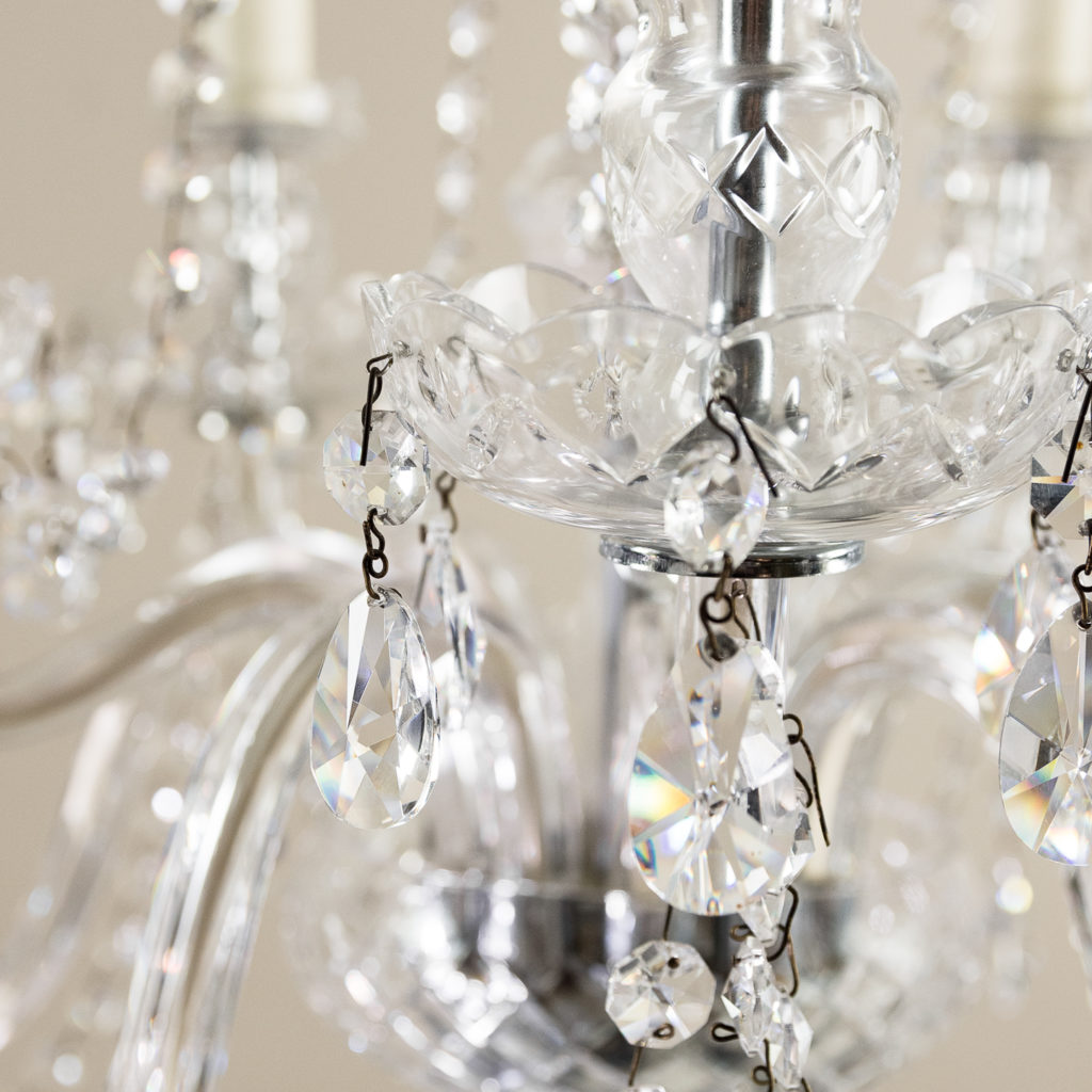 Pair of nineteenth century style ten light glass chandeliers, -138883