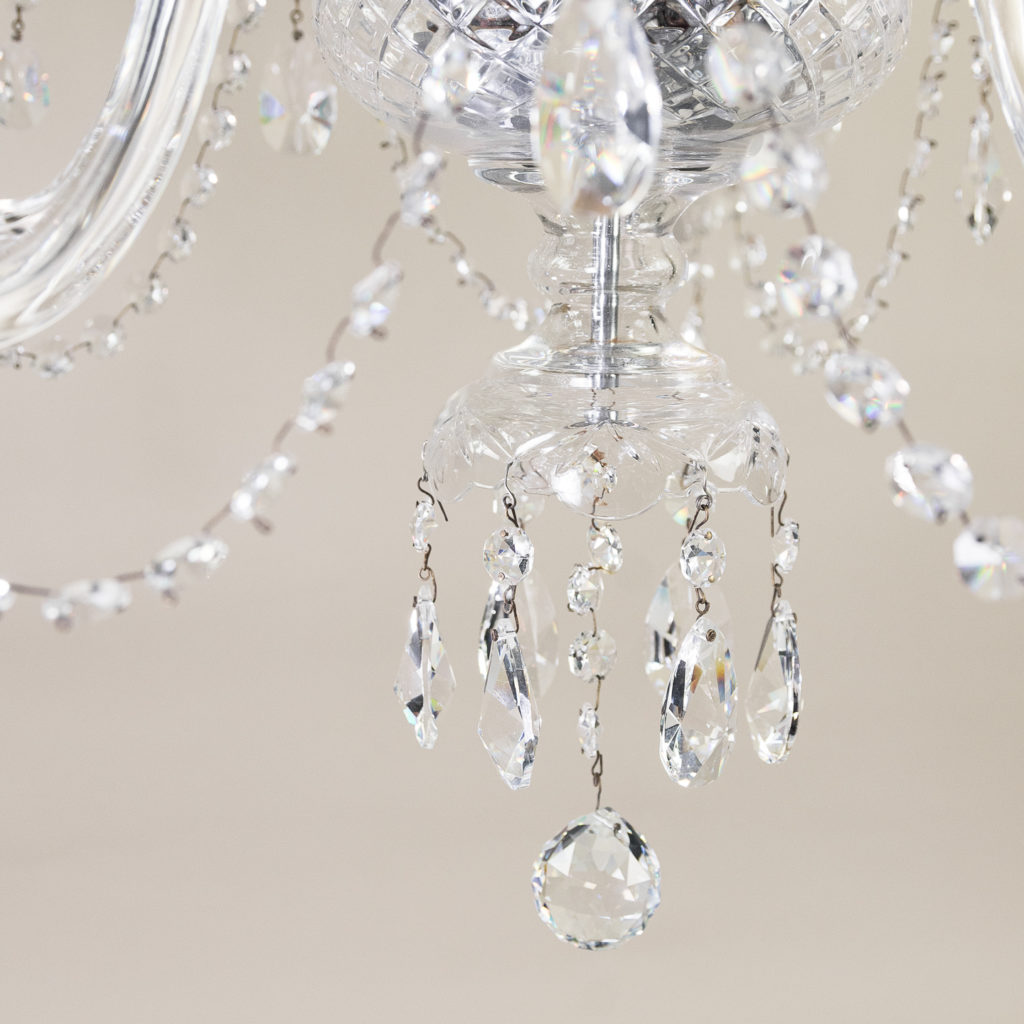 Pair of nineteenth century style ten light glass chandeliers, -138884