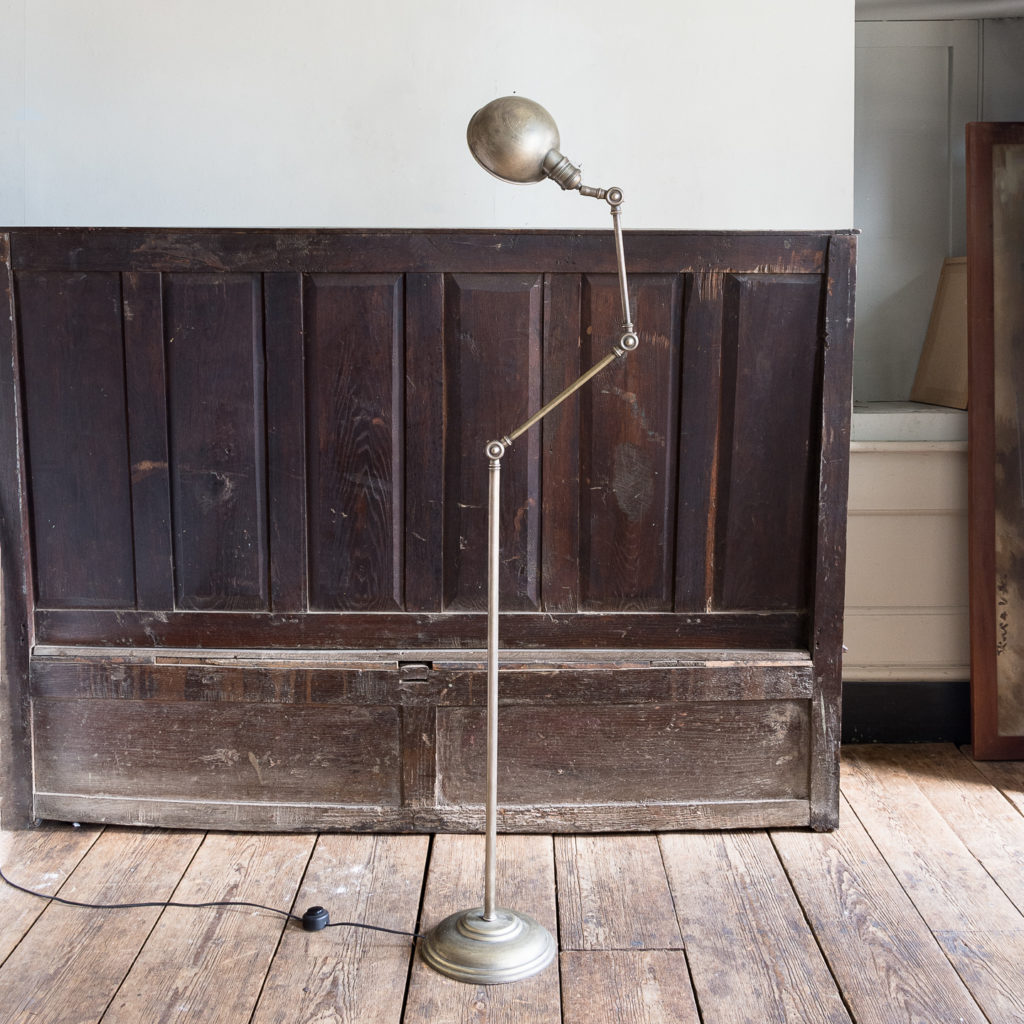 Industrial articulated floor lamp,