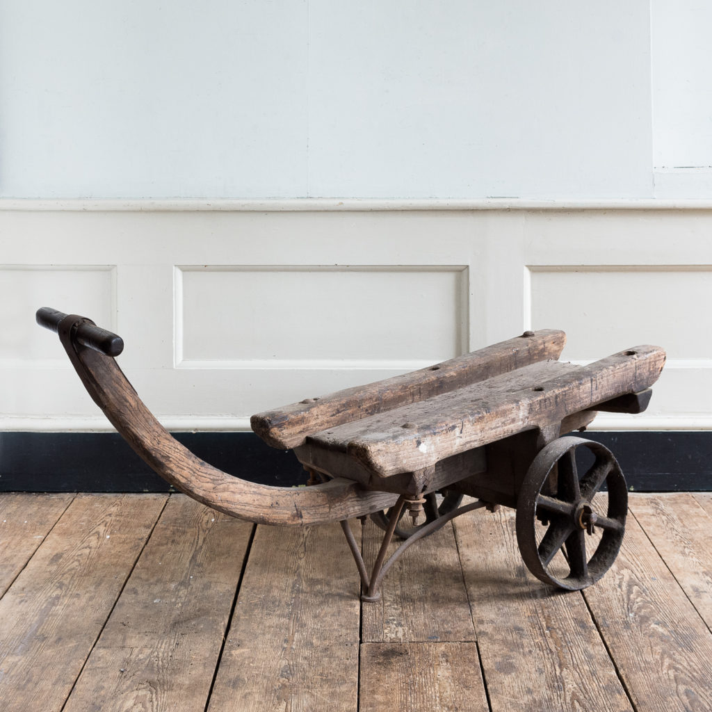 Nineteenth century elm Docklands goods barrow,