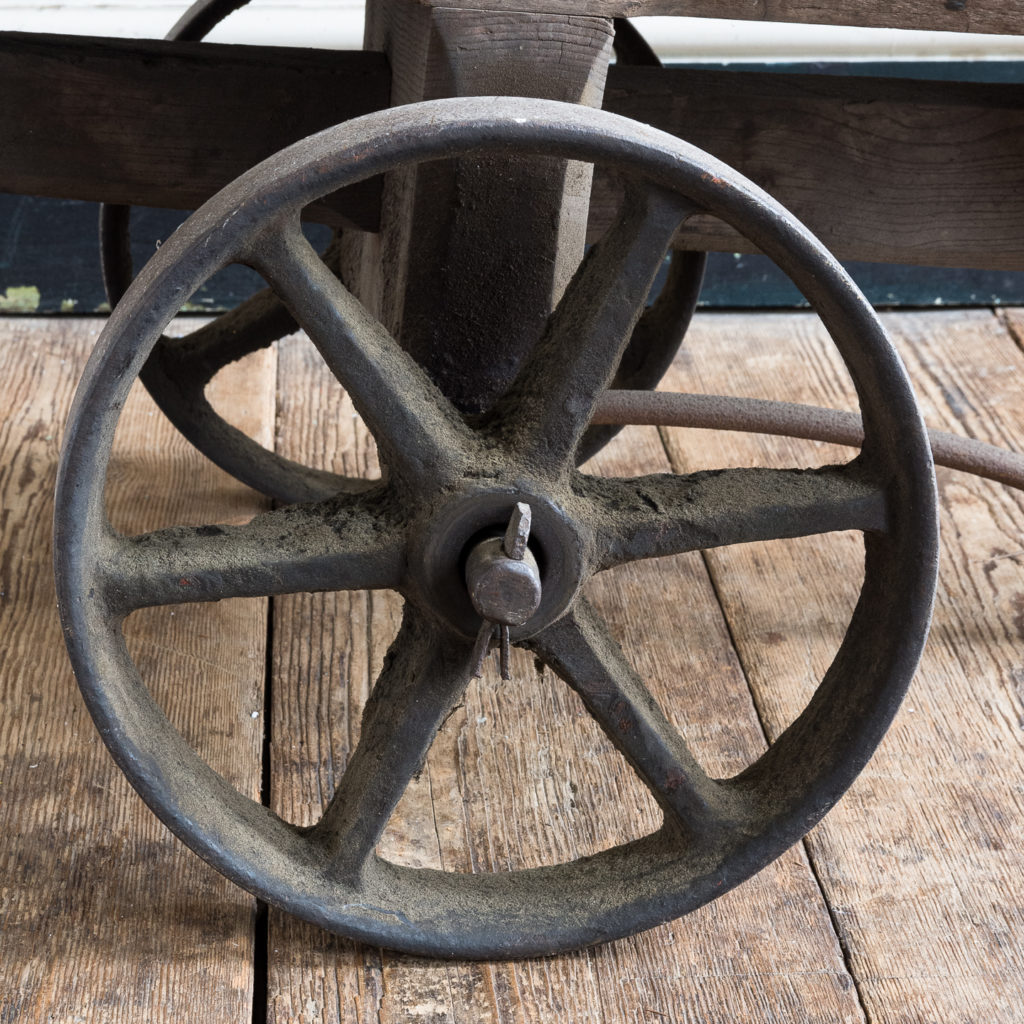 with cast iron wheels