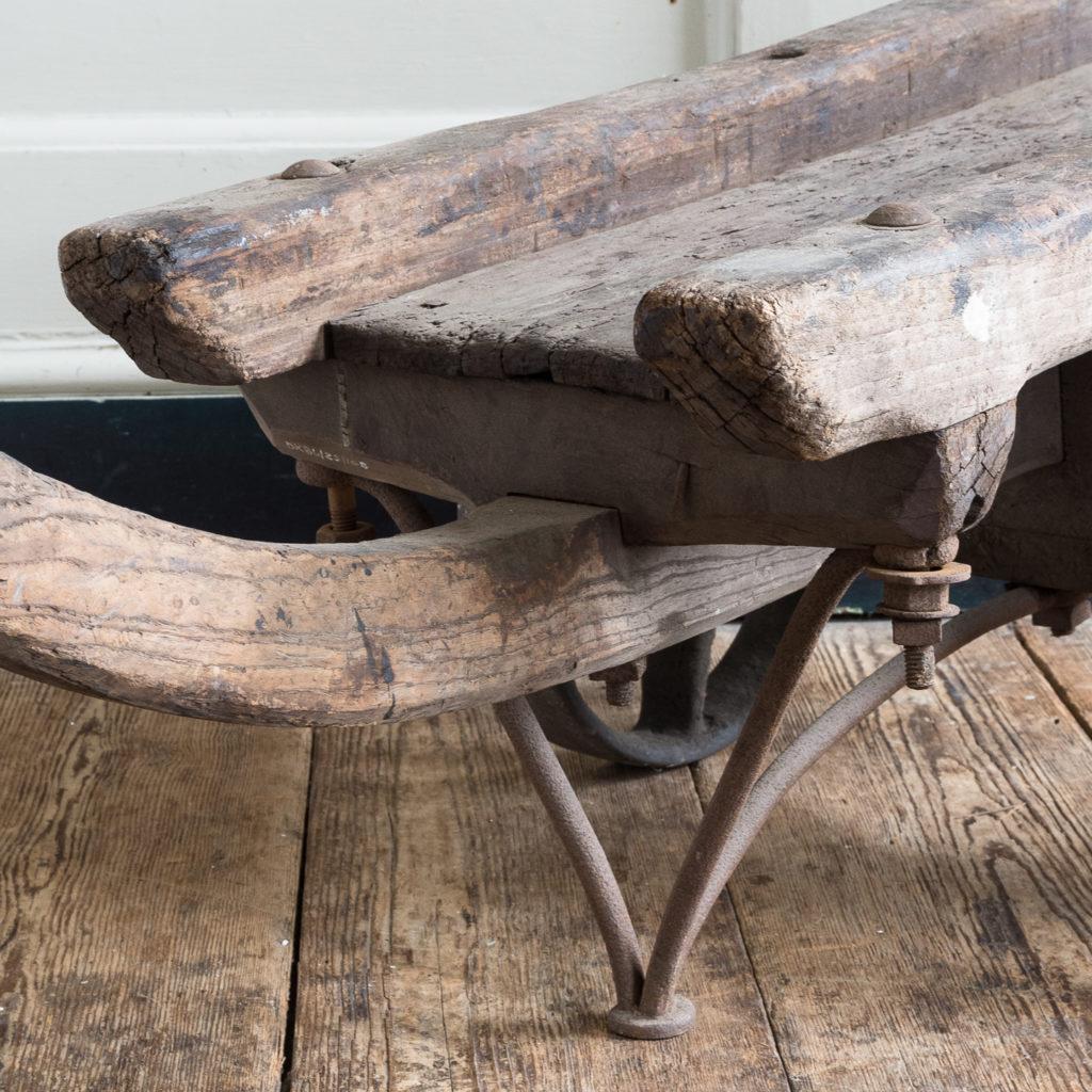 Nineteenth century elm Docklands goods barrow,-139384