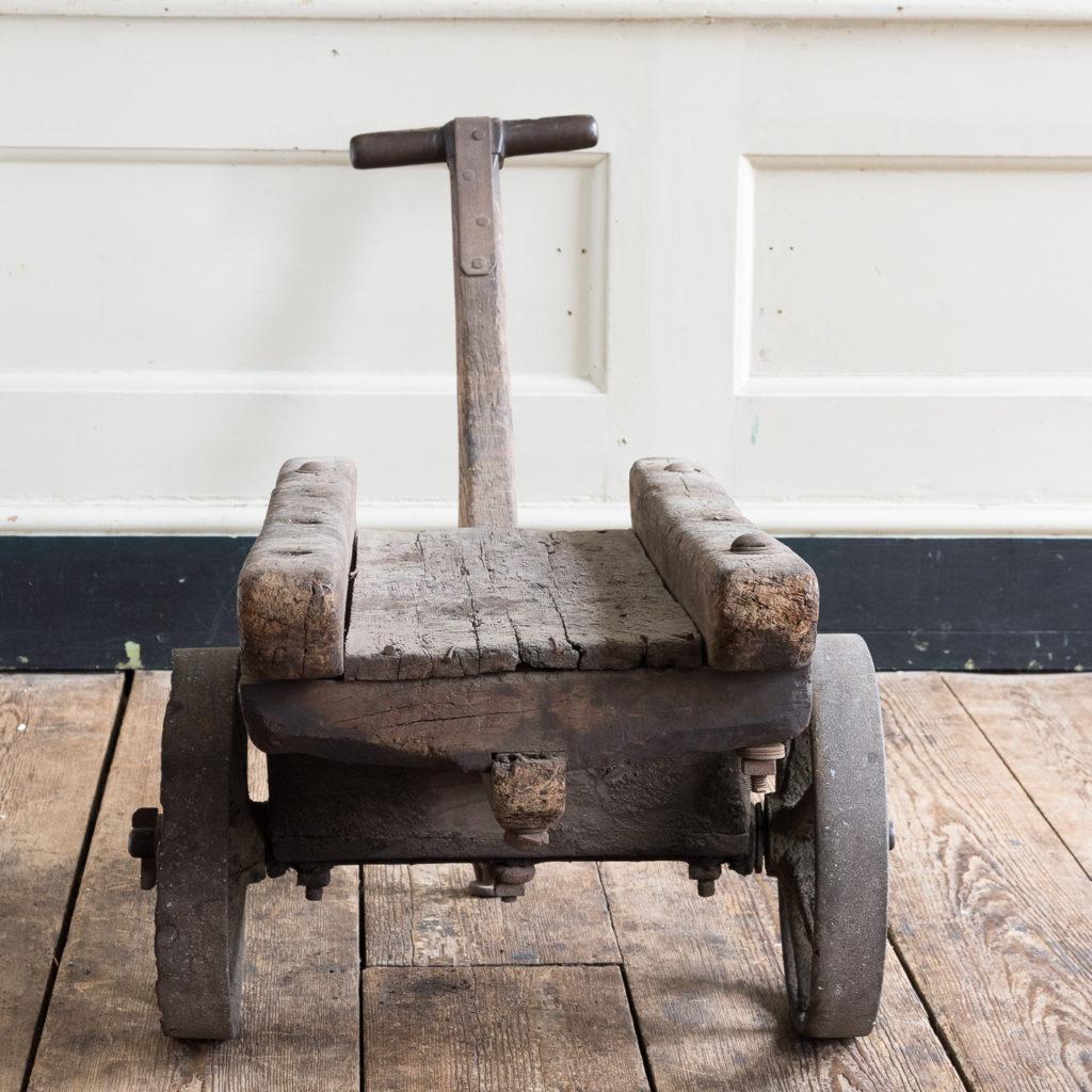 Nineteenth century elm Docklands goods barrow,