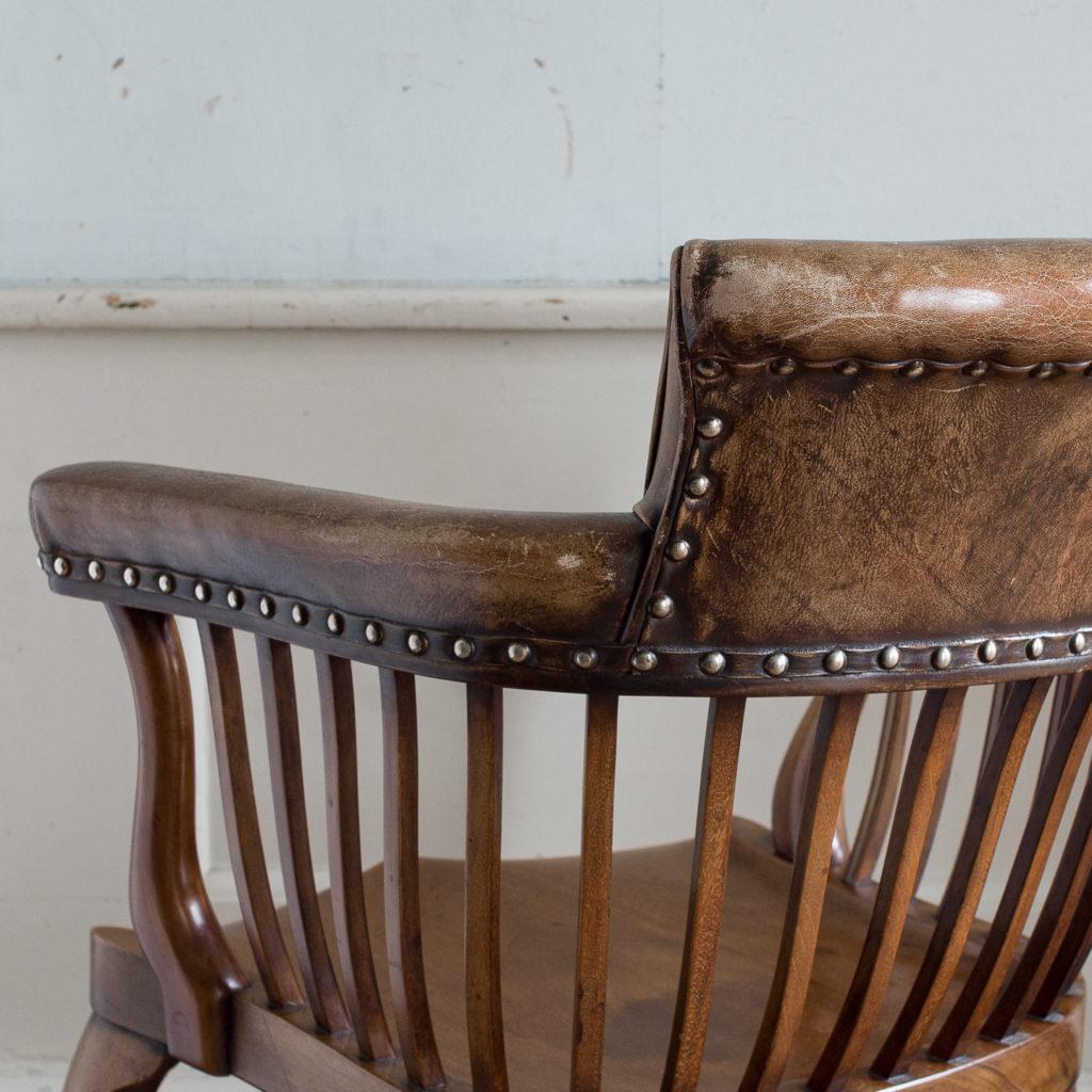 Pair of early twentieth century mahogany library chairs, -138865