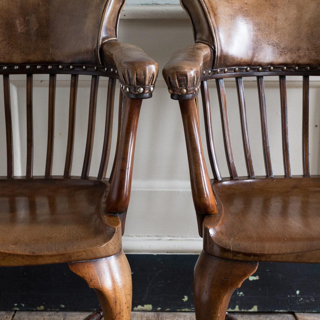 Pair of early twentieth century mahogany library chairs, -138866
