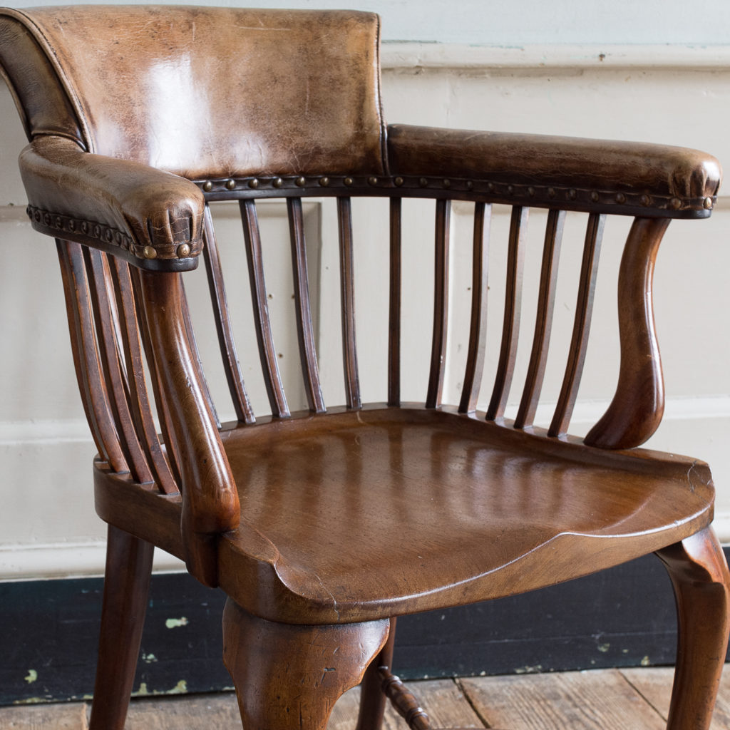 Pair of early twentieth century mahogany library chairs, -138867