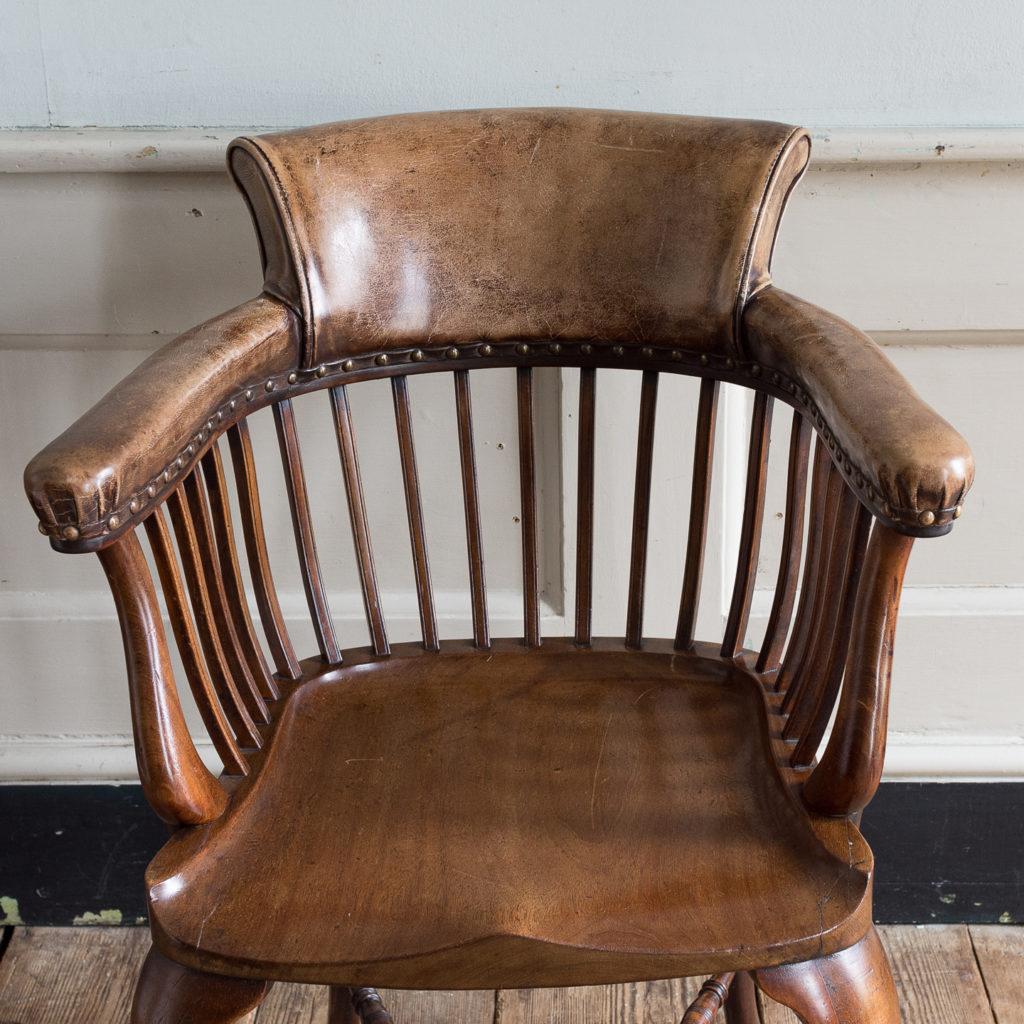 Pair of early twentieth century mahogany library chairs, -138869