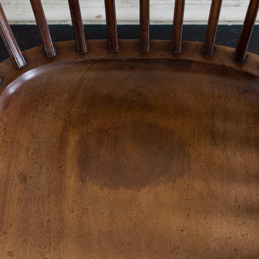 Pair of early twentieth century mahogany library chairs, -138870