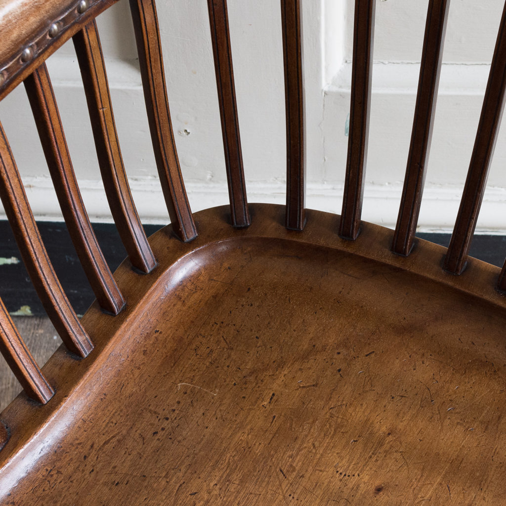 Pair of early twentieth century mahogany library chairs, -138874