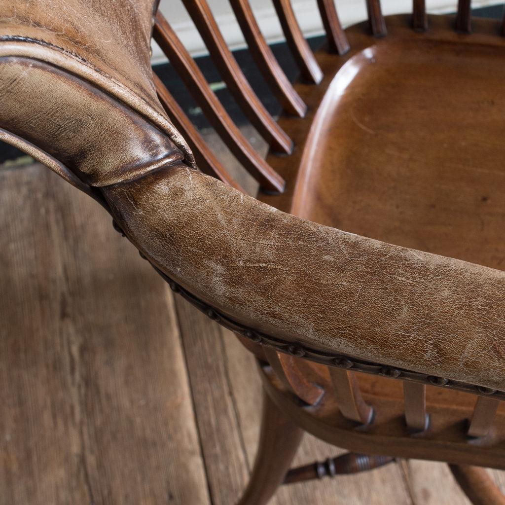 Pair of early twentieth century mahogany library chairs, -138875