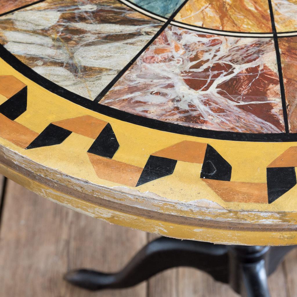 Faux-marble 'specimen' table,-139432