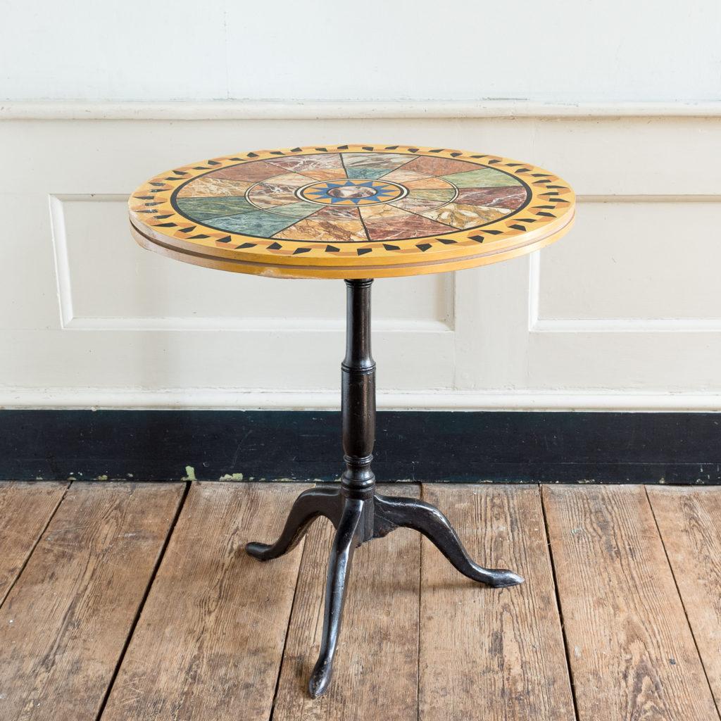 Faux-marble 'specimen' table,
