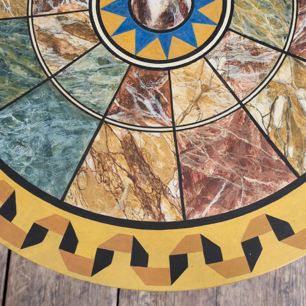 Faux-marble 'specimen' table,-139435