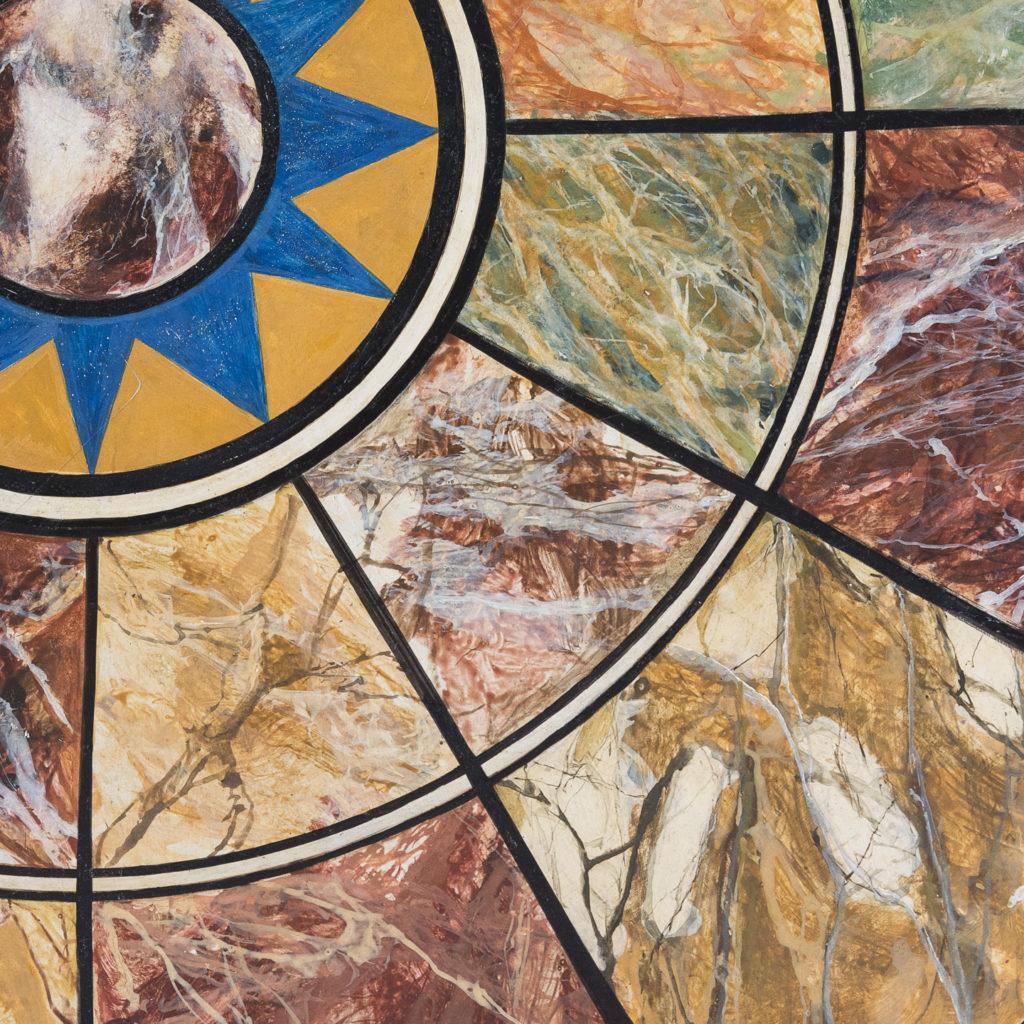 Faux-marble 'specimen' table,-139436