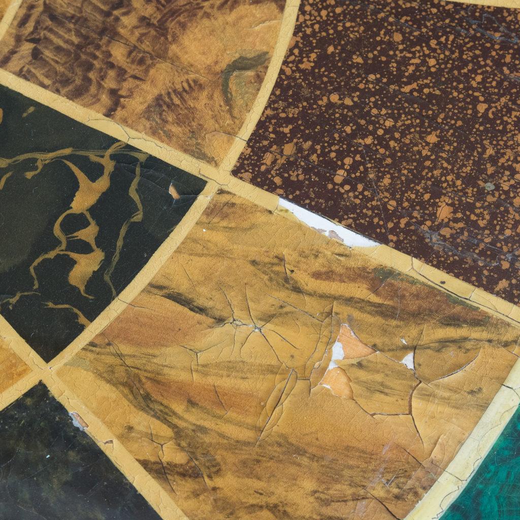 Regency style marbleised 'specimen' table,-139479