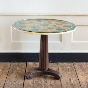 Regency style marbleised 'specimen' table,