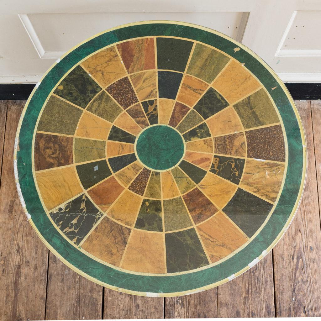 Regency style marbleised 'specimen' table,-139476