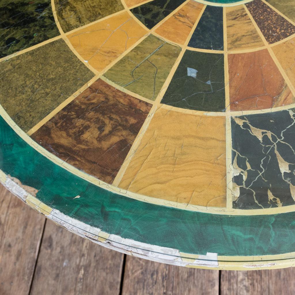 Regency style marbleised 'specimen' table,-139478