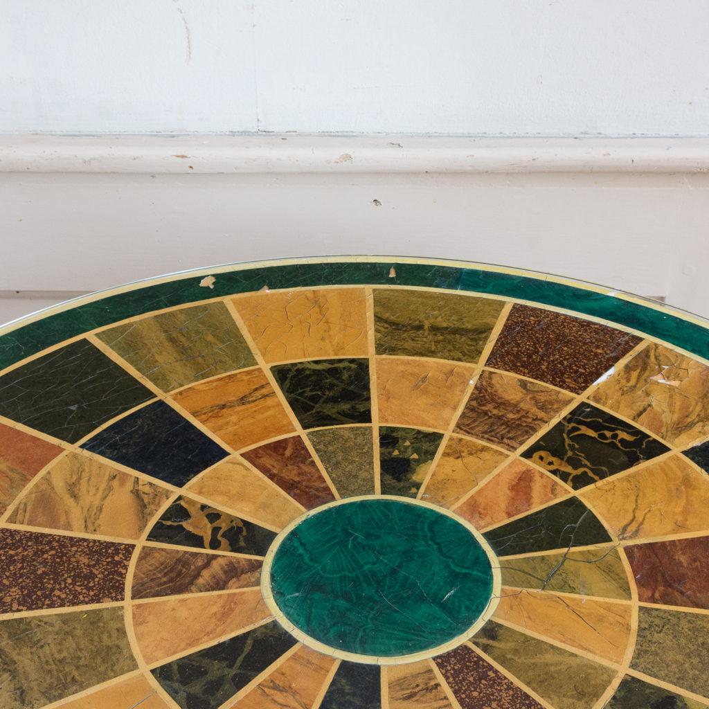 Regency style marbleised 'specimen' table,-139480